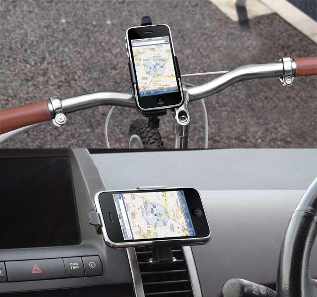 フォーカル 自転車用と自動車用のiPhoneマウンタ発売