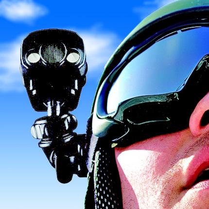 エバーグリーン ヘルメットにも固定できるビデオカメラ