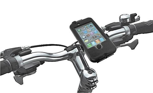 エバーグリーン 自転車にも装着可能なiPhone4用生活防水ケース